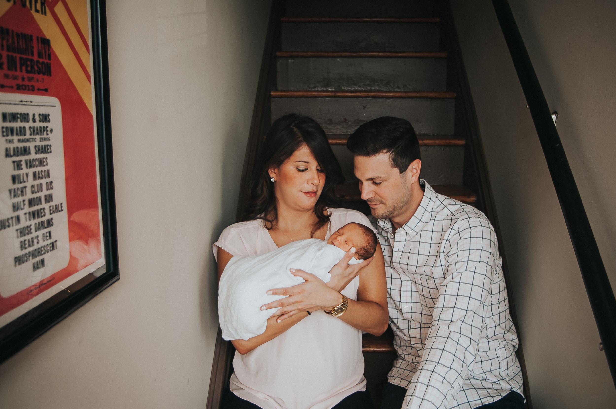 natural newborn family in st. louis