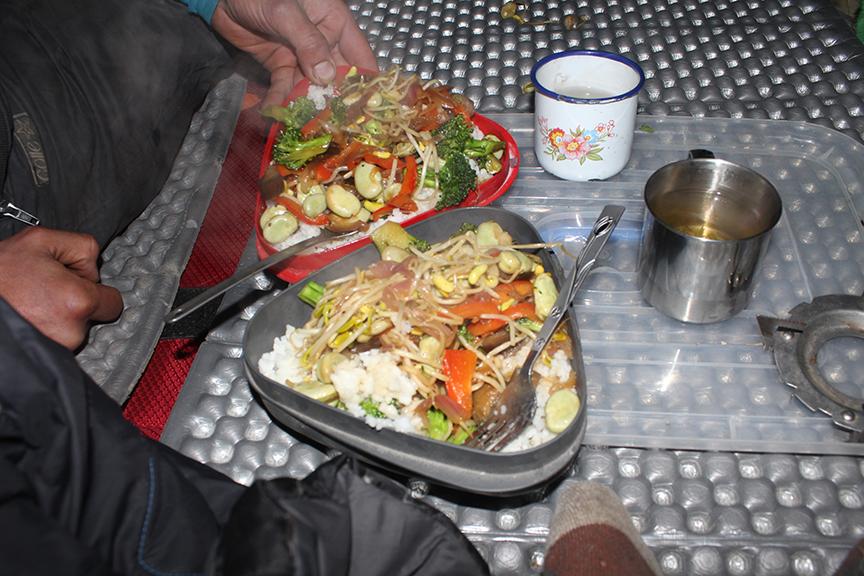 Fresh food made-to-order in the van.