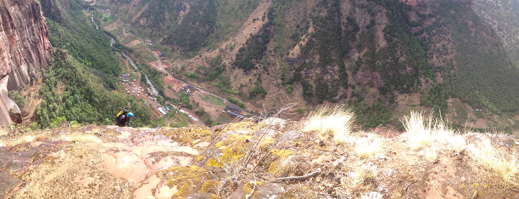 A panorama from the top of  Back to the Primitive .
