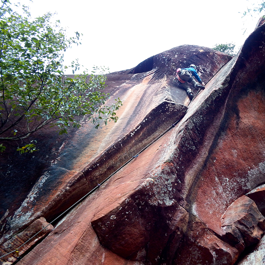 Nico Cáceres on the final crux of  Boving Reflection .