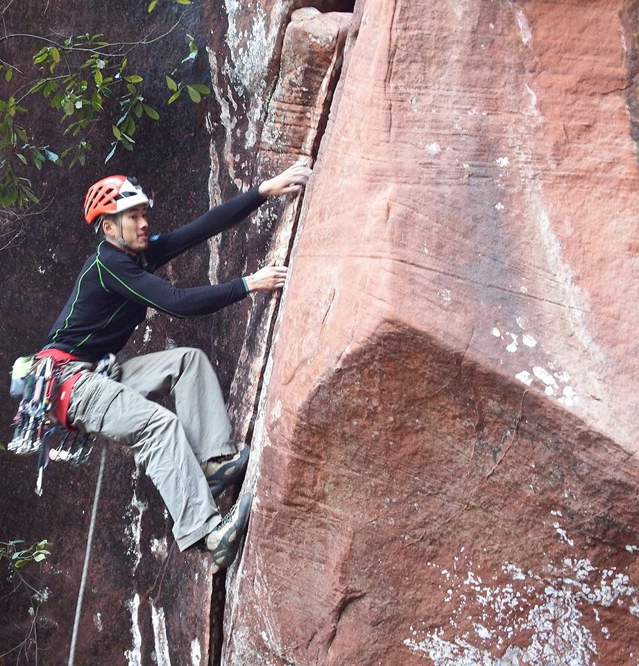 Ryder Stroud on the bouldery start of  Boving Reflection .