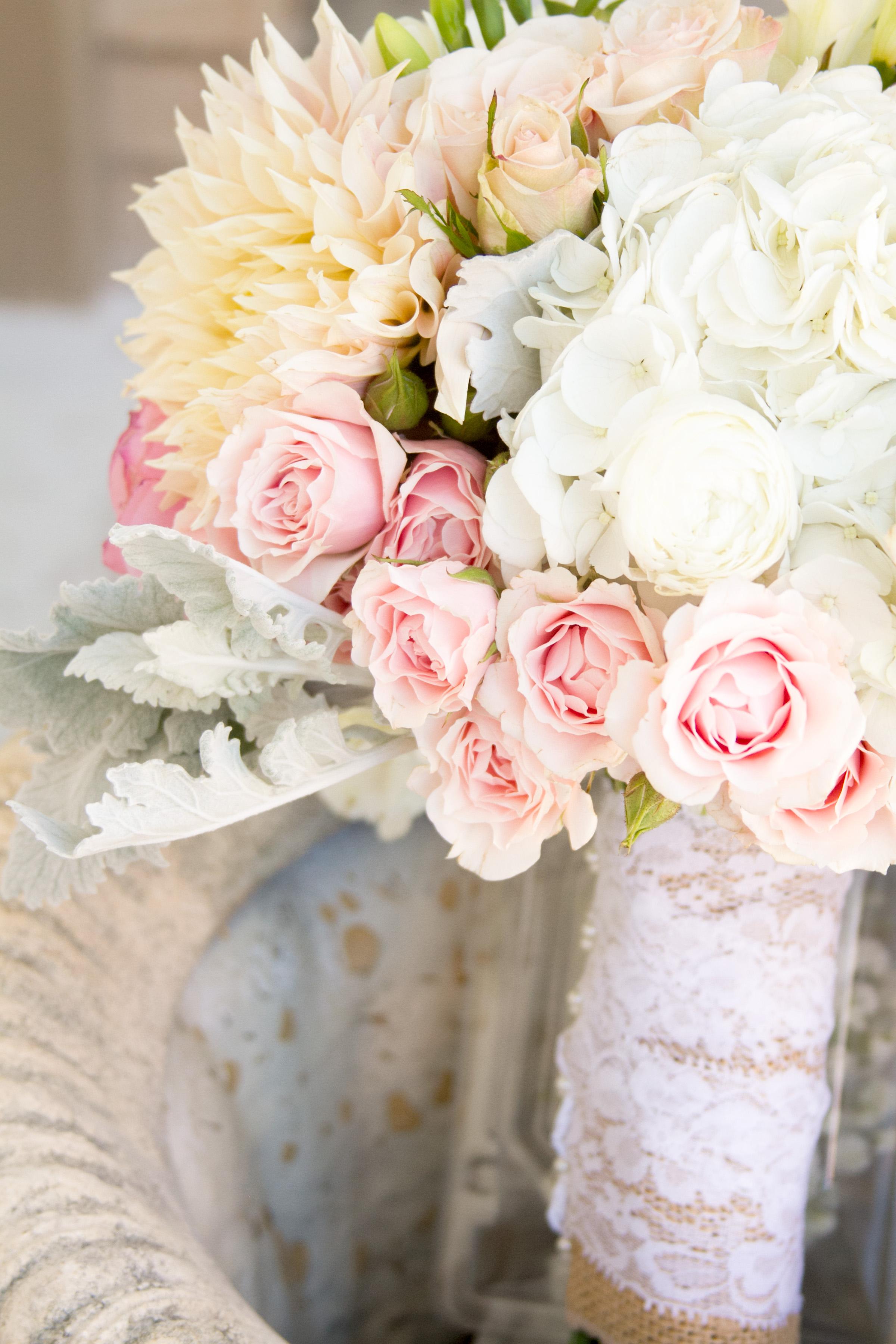 Telluride Wedding Florist, blush wedding bouquet