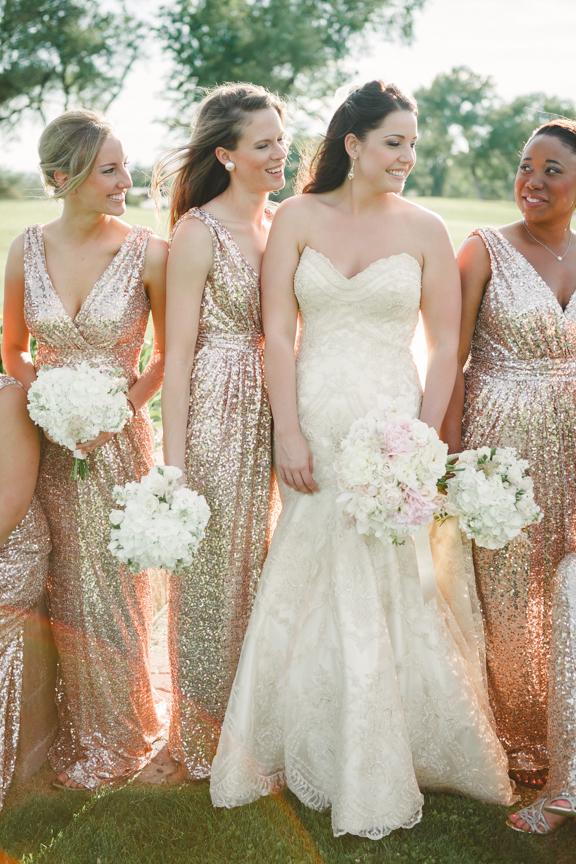 Rose Gold Wedding Flowers