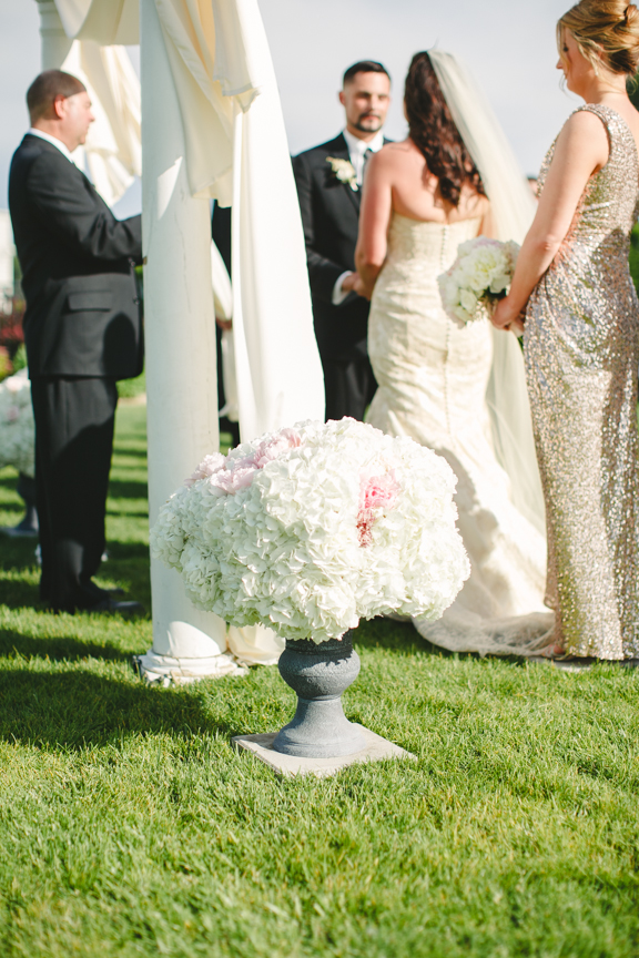 Blush Ceremony Wedding Flowers 3 Leaf Floral