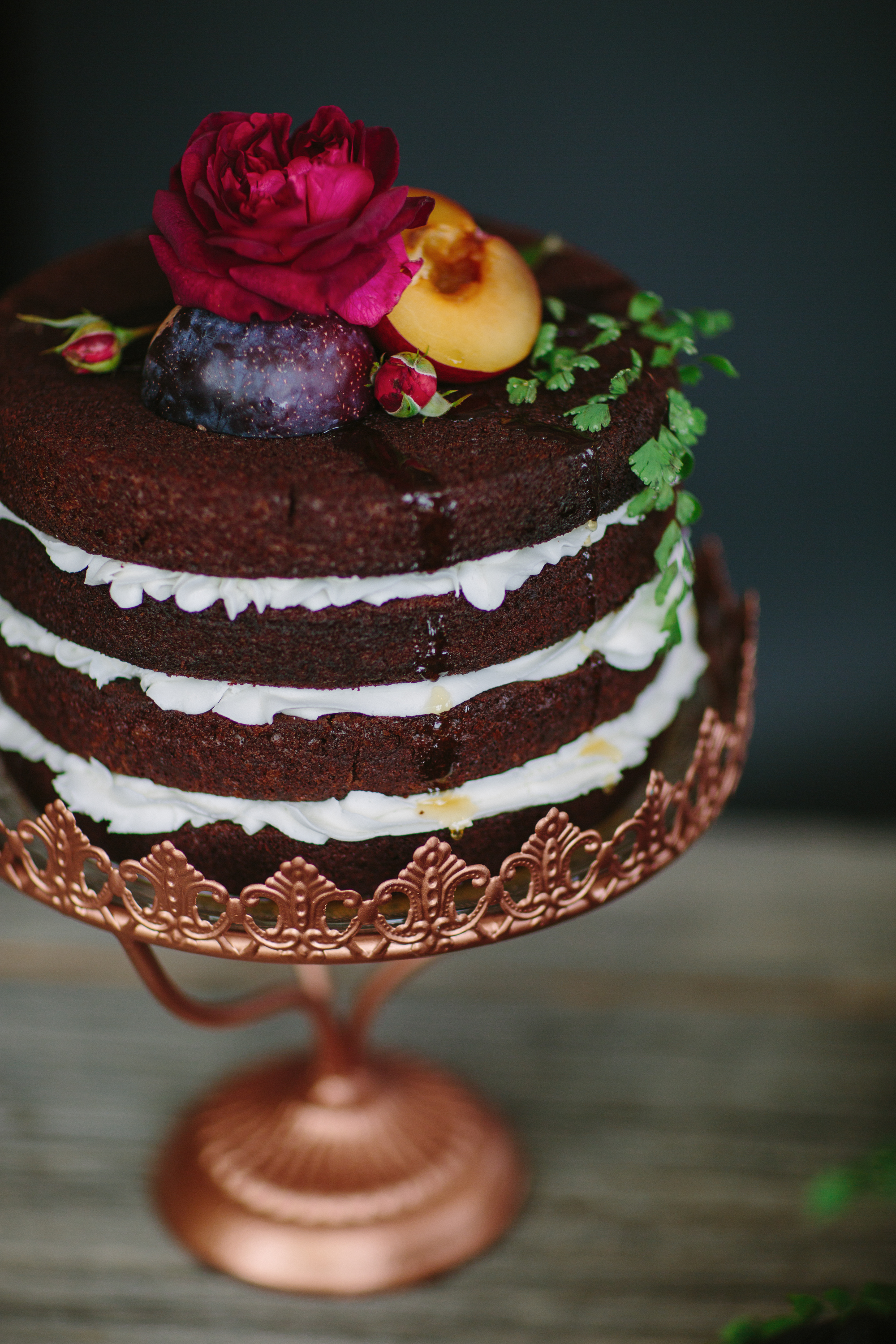 Naked Chocolate Cake Bespoke Cakery and 3 Leaf Floral