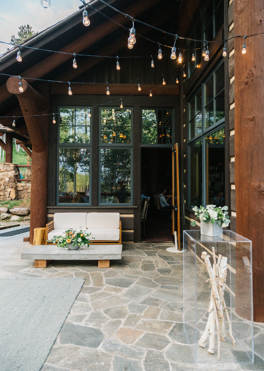 Modern Mountain Wedding Reception, Zac's Cabin, Beaver Creek CO