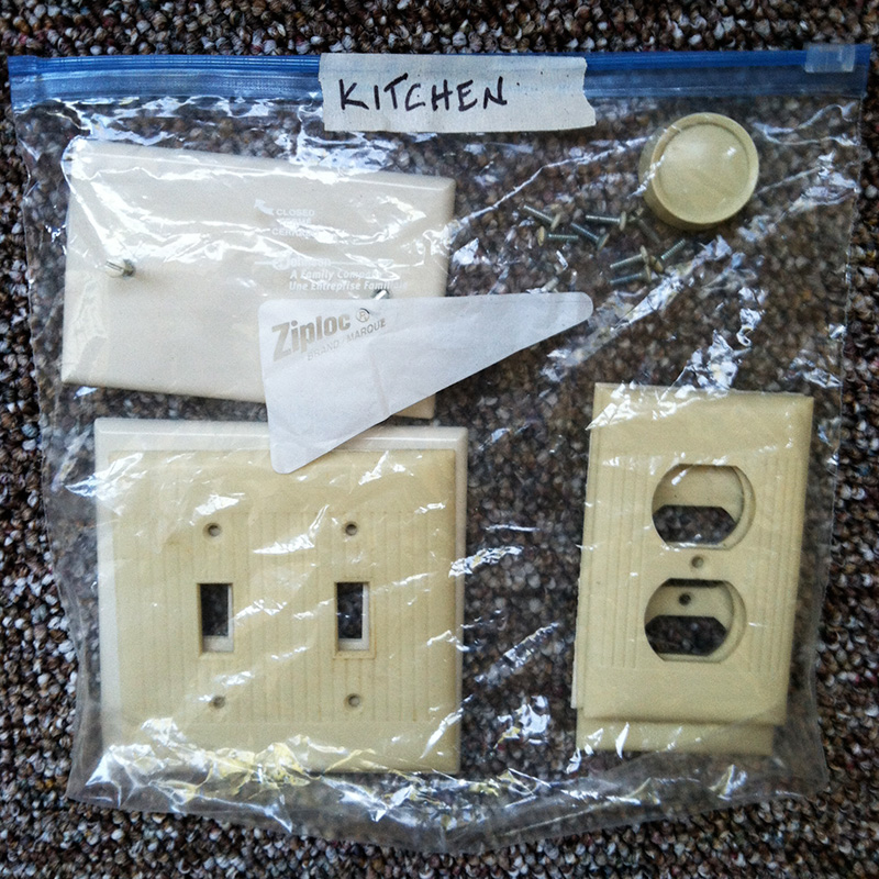 Preparing a Room for Painting Part 2: Switchplates & Plug Plates