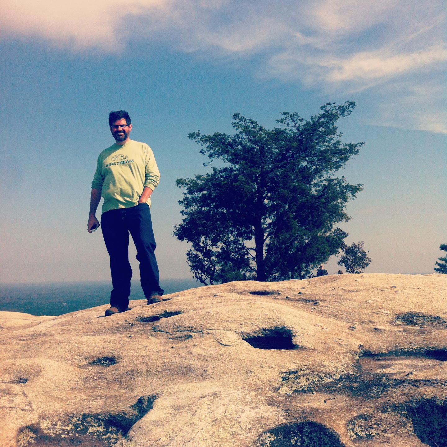 King of the wooooorld, atop Stone Mountain.