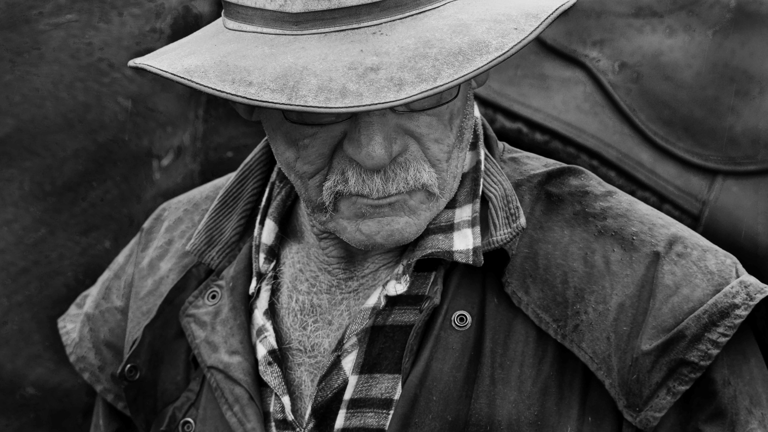 THE STOCKMAN - Corryong - AUSTRALIA   Phil Cusso, a seasoned horseman gathers some thoughts during the annual Man From Snowy River Festival  #stockman #mfsr