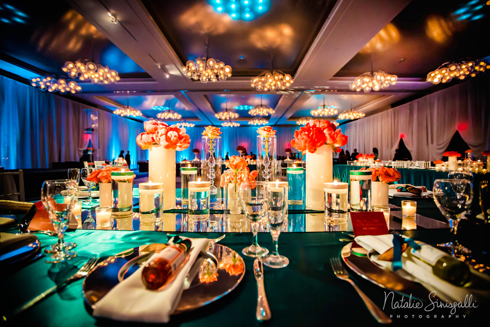 Lighting by  Encore Events   | Planning and Event Design:  Sapna Weddings  | Florals by  Stacy K Floral