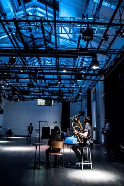 Technical Design + Direction for Performance-Installation work by Chantale Laplante, presented at the Agora de la danse in Montreal, QC.   INTRA-MUROS : HYPERÉCOUTE ET ESPACE SONORE est une installation-concert de Chantale Laplante. Présenté les 21 et 22 juin 2014 au pavillon Cœur des sciences de l'UQAM, en continu de 20h15 à 22h00.  Crédits: Conception: Chantale Laplante /  Direction technique en environnement sonore : Julian Stein  /Musiciens : Samuel Lalande-Markon, tuba; Ana Tapia, cloches-plaques / Assistance technique : Andréanne Le Hudon