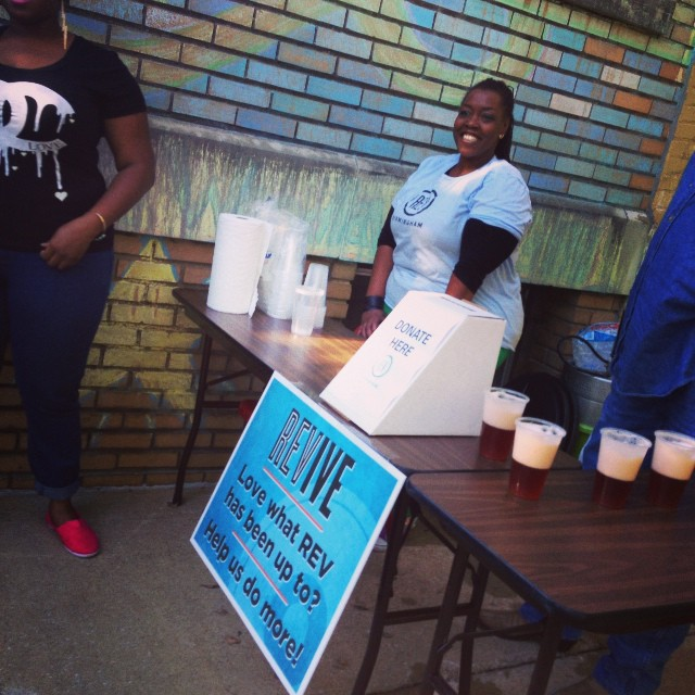We have beer. And it's free! Thanks to @AvondaleBrewing :) come and get it while it lasts! #revivebham #souldown