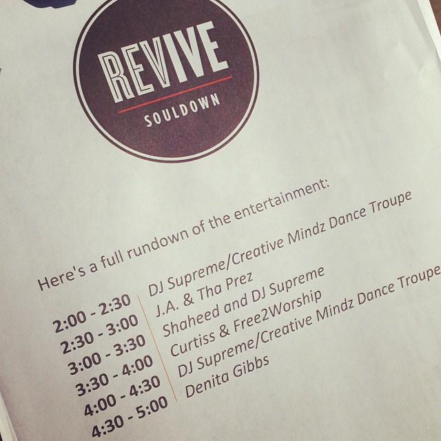 Lineup!! #revivebham #souldown