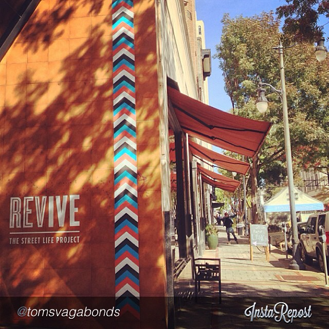 """Go see 'em, #Bham!! by @tomsvagabonds """"Big thanks to our friends at @revivebirmingham for having us here today! Swing by from now until 4PM to snag some Vagabond goodies! #vagabondseast #OneforOne"""""""