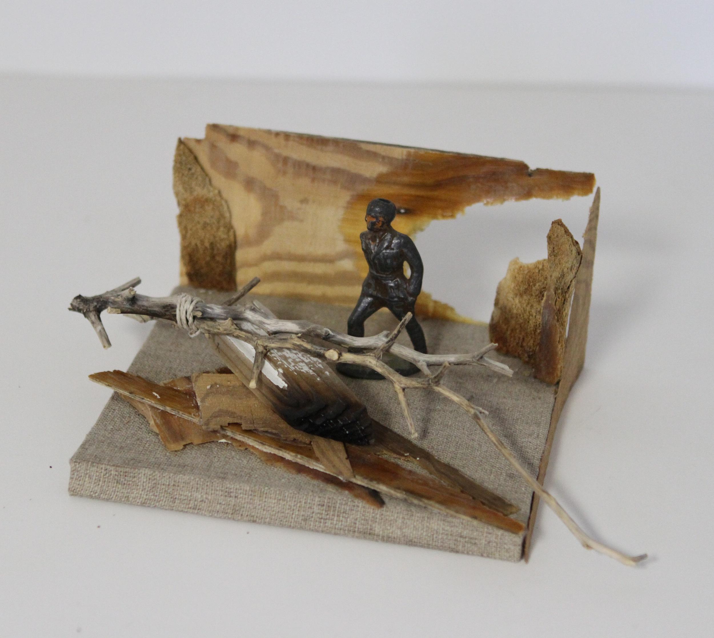 Figure in Ruins