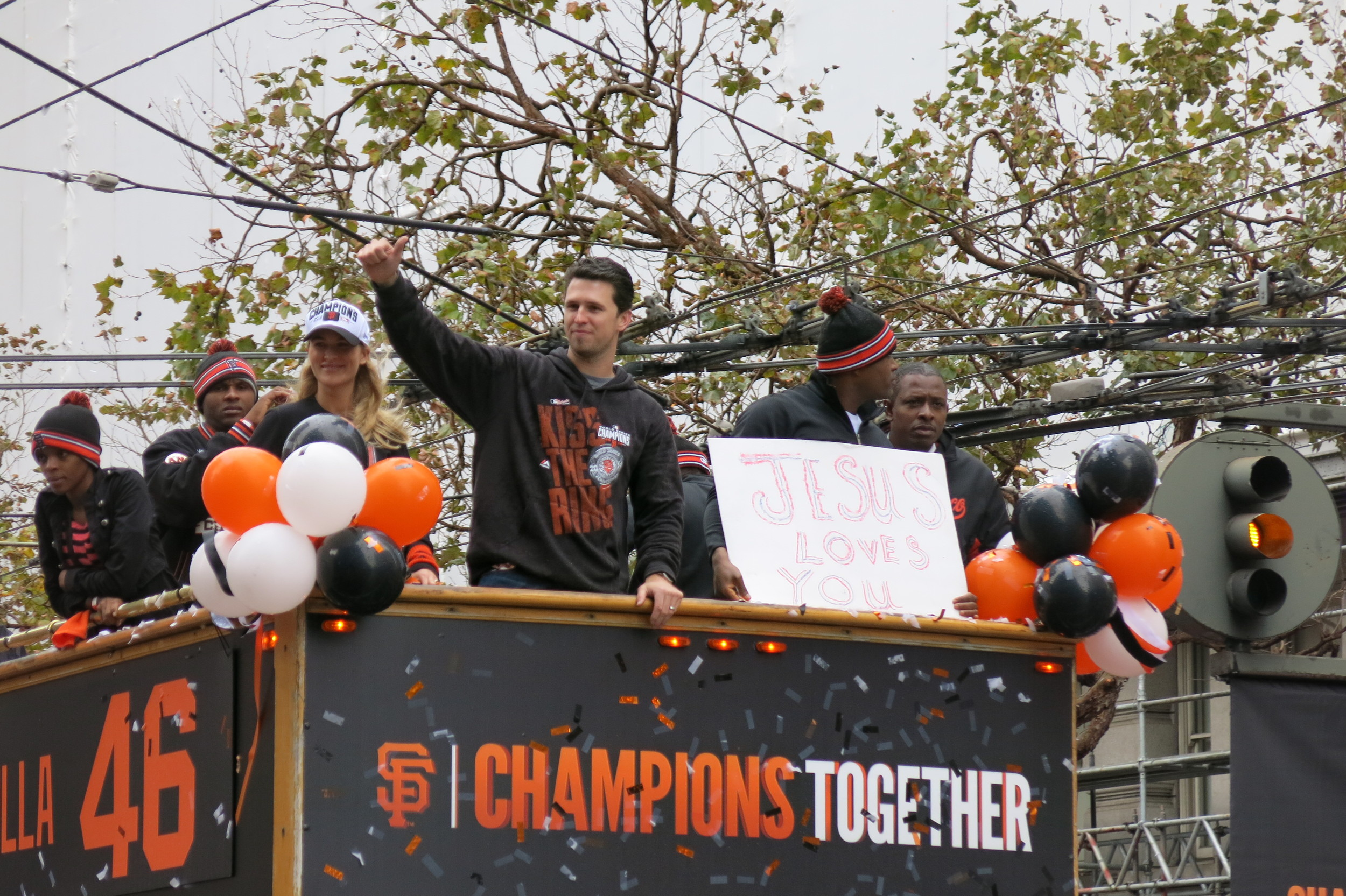 Buster Posey and Santiago Casilla