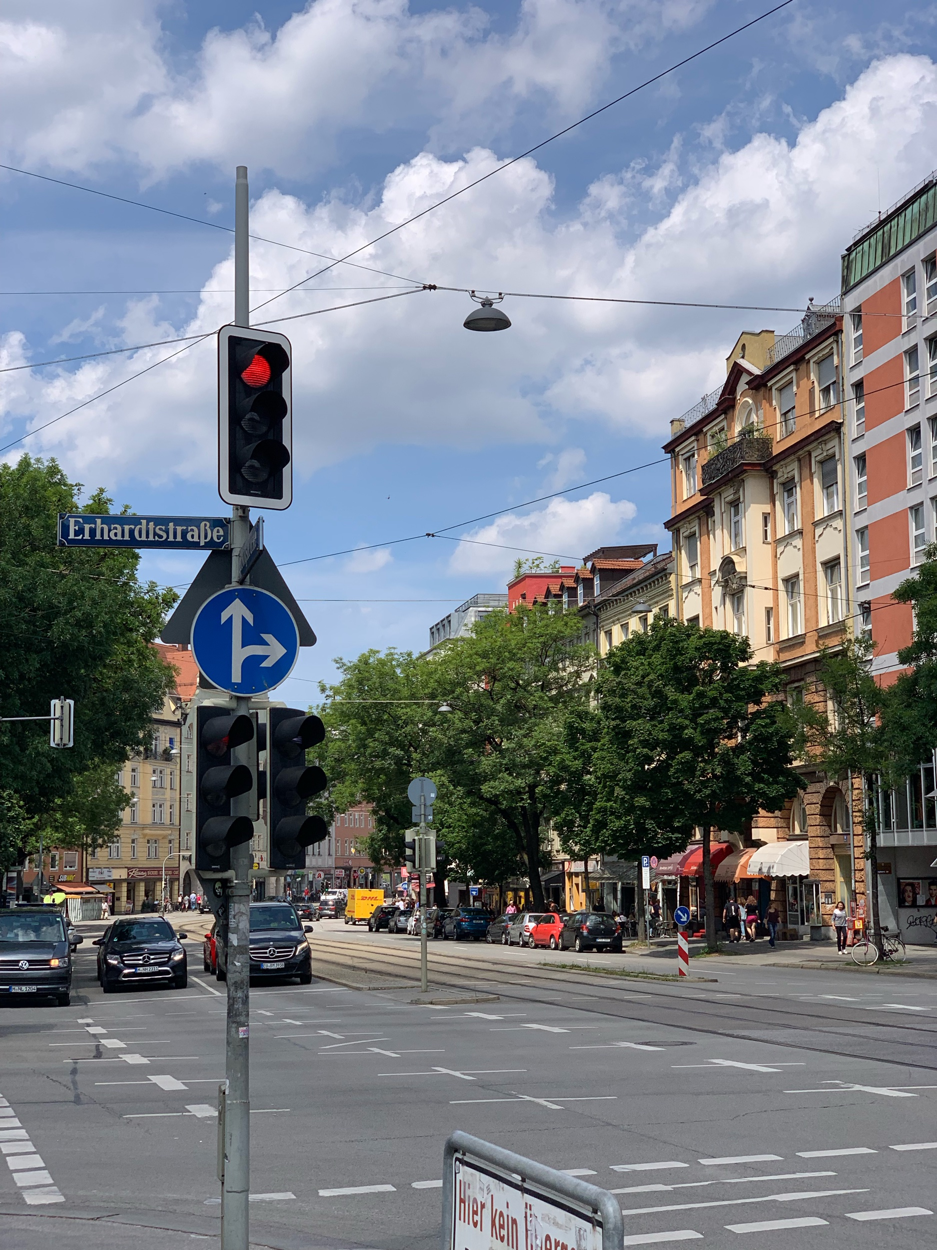 The clean streets of Munich