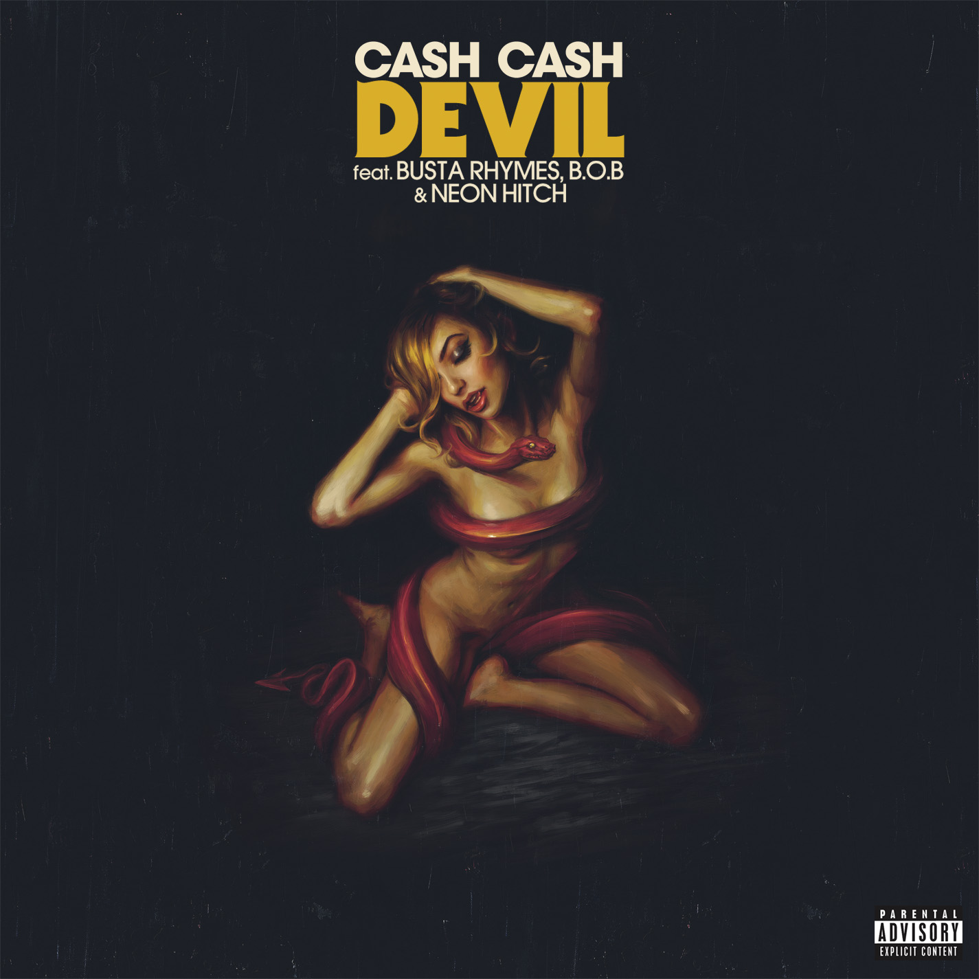 Cash Cash - Devil single art. Illustration by Sam Spratt