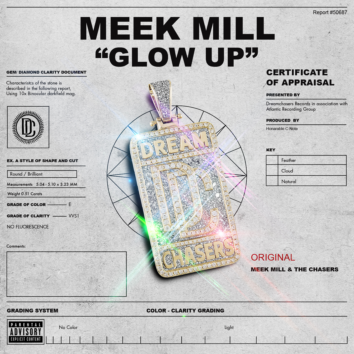Meek Mill - Glow Up single art. Collaboration with Chaz Morgan.