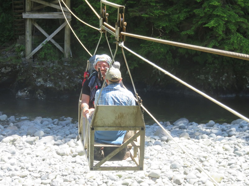 Cable car river crossing, West Coast Trail.JPG