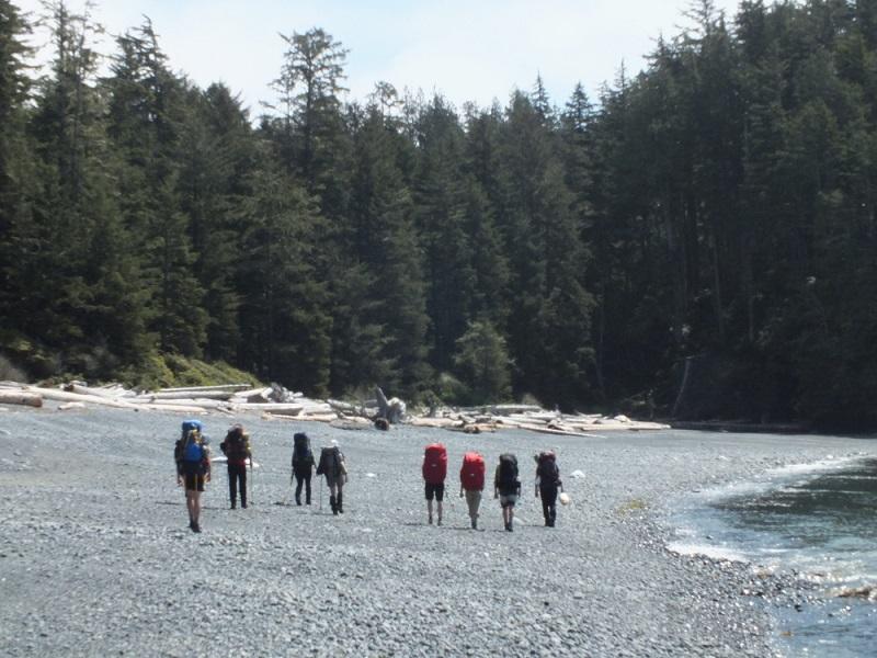 Guided group of backpackers on Nootka Island.JPG