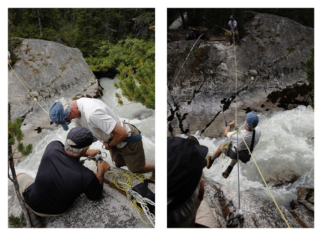 Tyrolean traverse, guided backpacking.jpg