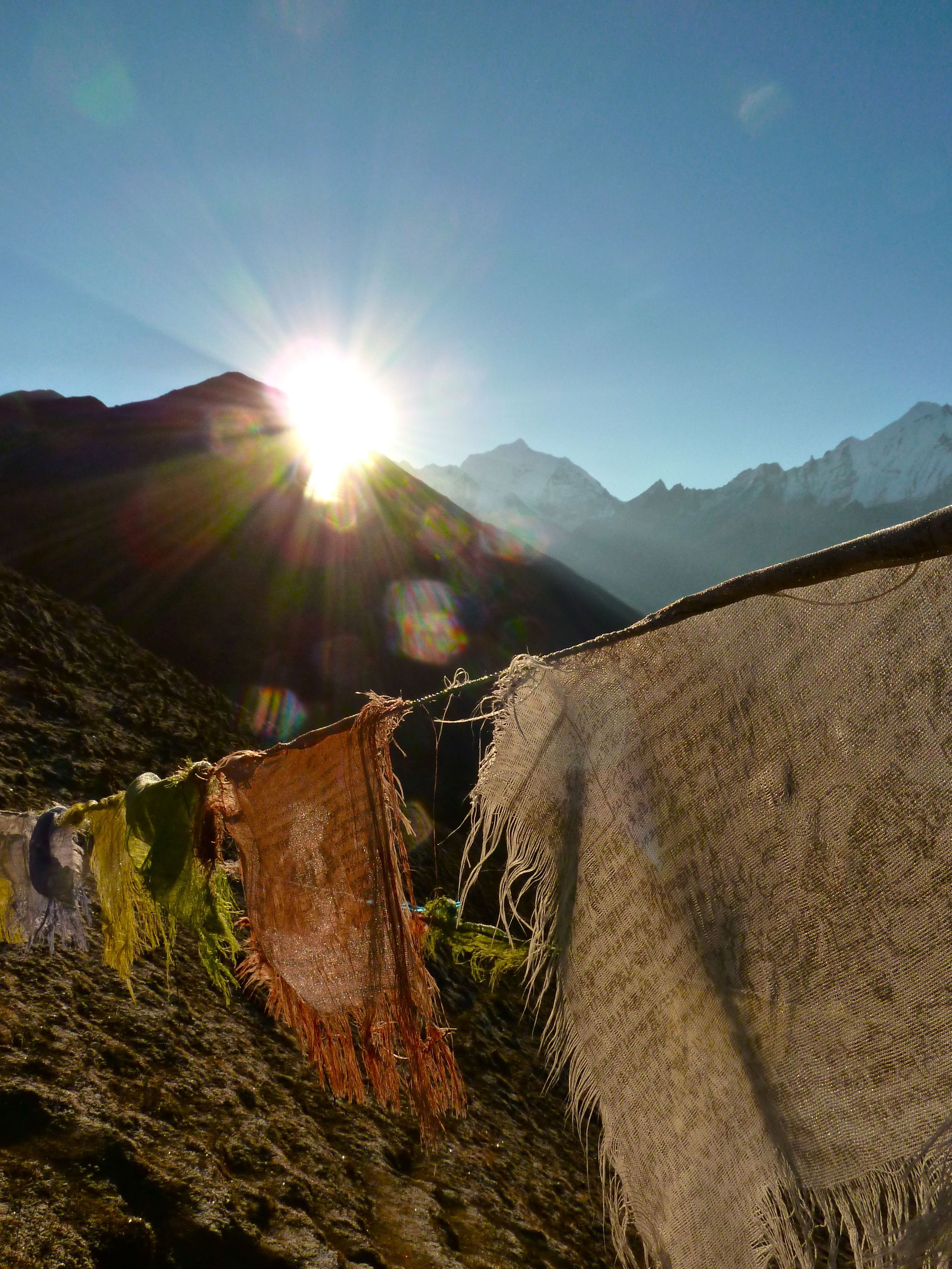 Sunrise in the Lang Tang valley