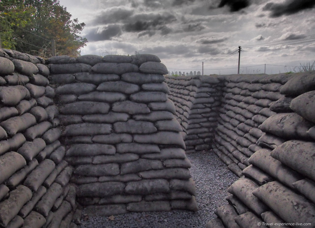The Trench of Death, near Ypres, used to be one of the most dangerous trenches during WWI.