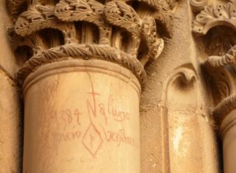 800 year old graffiti in Jerusalem