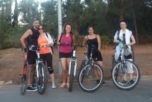 Our cycling party