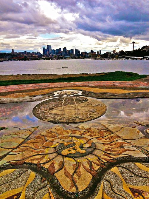 Seattle as seen from GasWorks Park by Shannon Cunningham