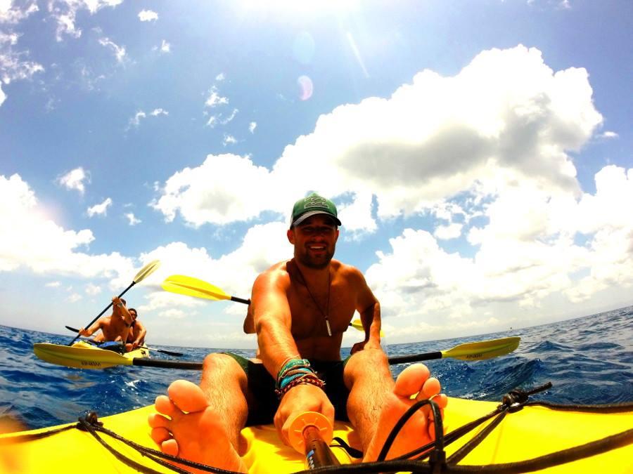 Kayaking in Cozumel, Mexico