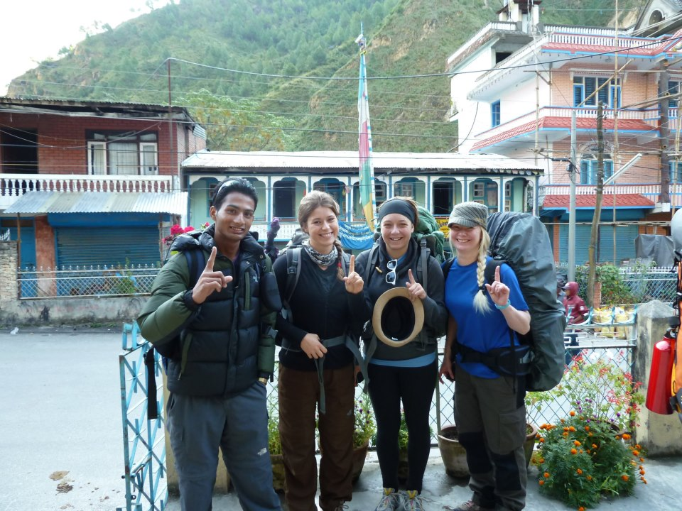 Here is Phoebe before hiking the Lang Tang Trail in Nepal
