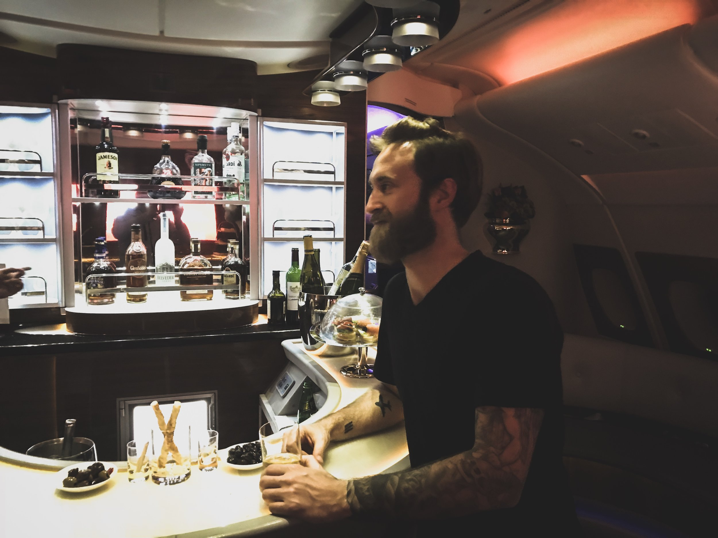 At the bar on Emirates