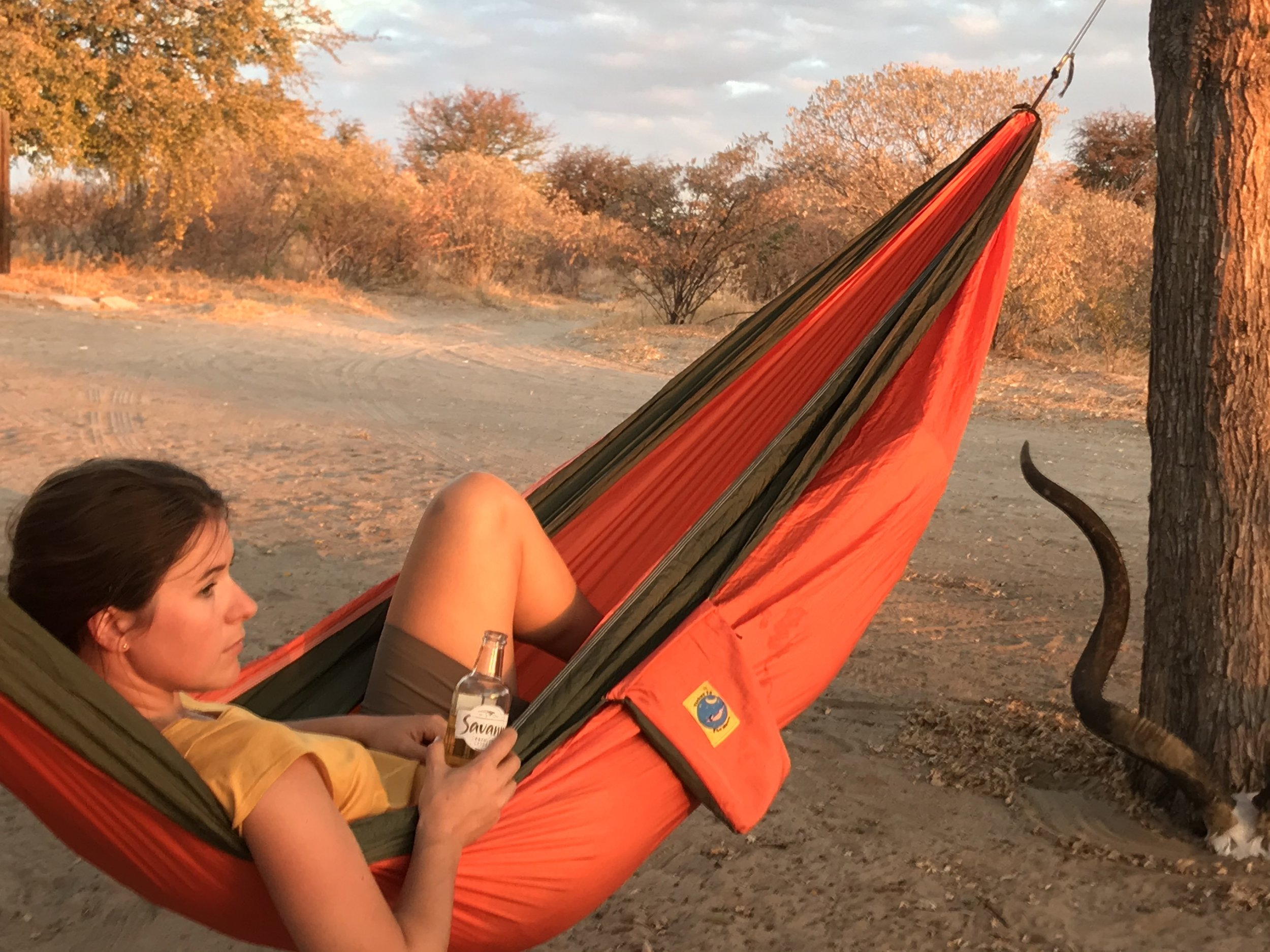 Relaxing in the Kalahari