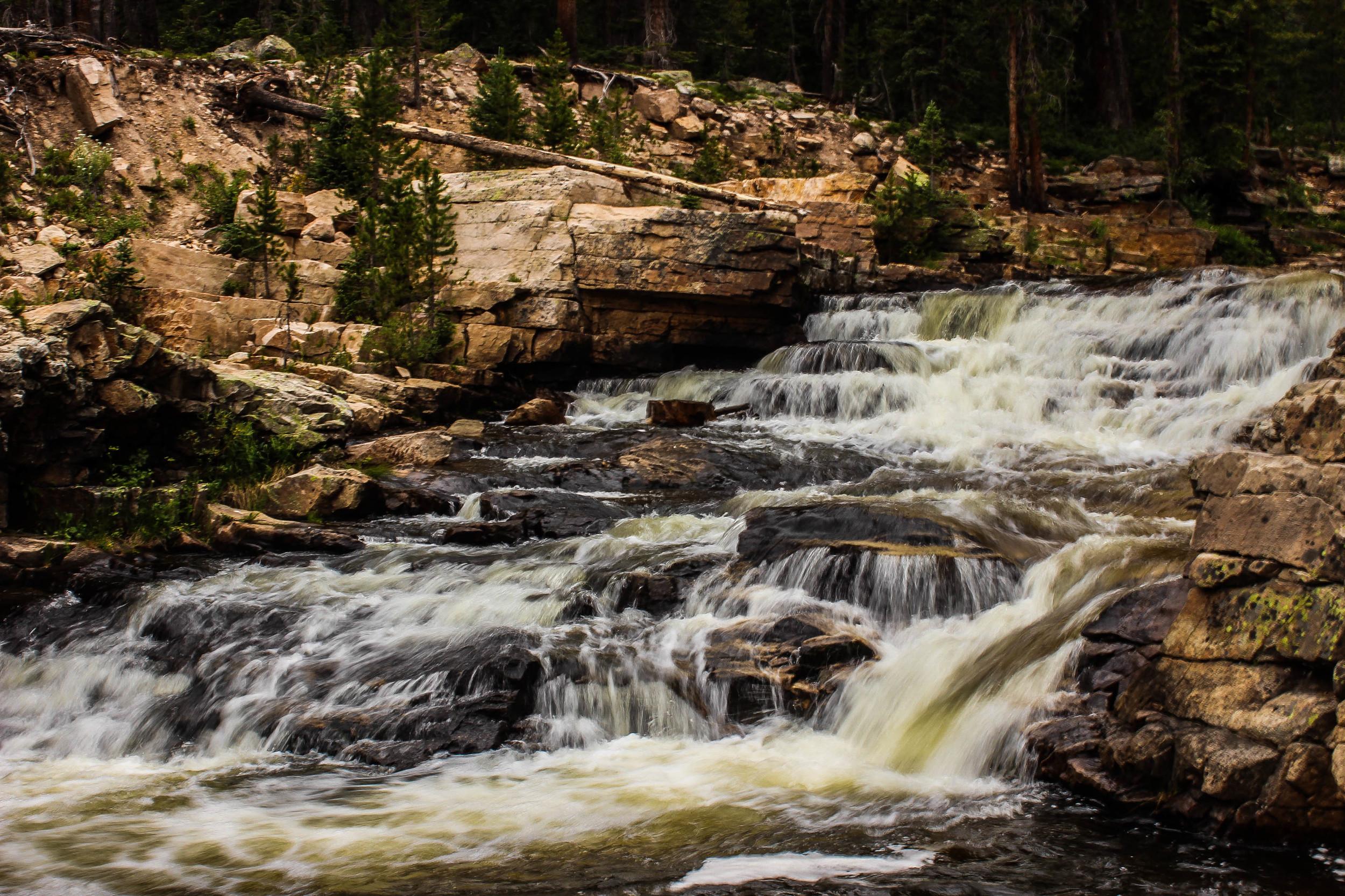 Provo River Falls: edited using the JamesB 'Summer at the Lake' lightroom preset