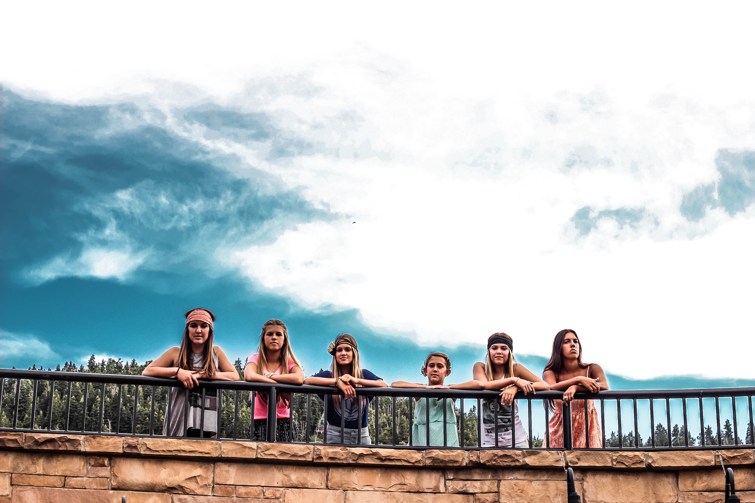 Cousins: edited using the JamesB 'Rome' preset- i'm not sure why they have the white outlines around them, i just love how this made the sky look