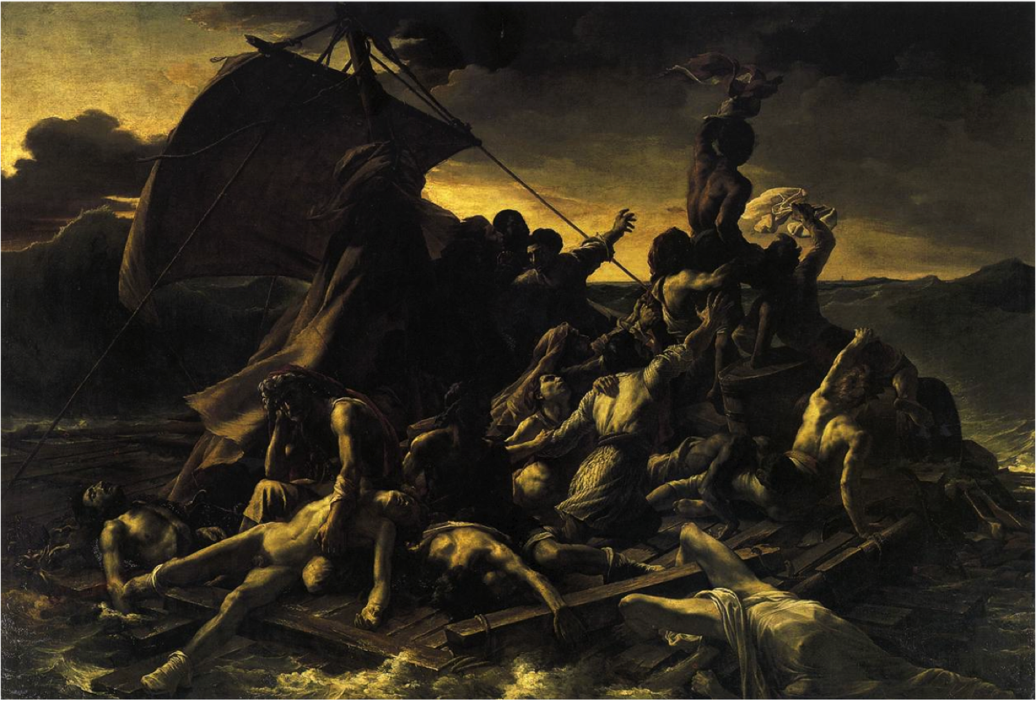 theodore géricault: the raft of the medusa, 1819, hanging in the louvre