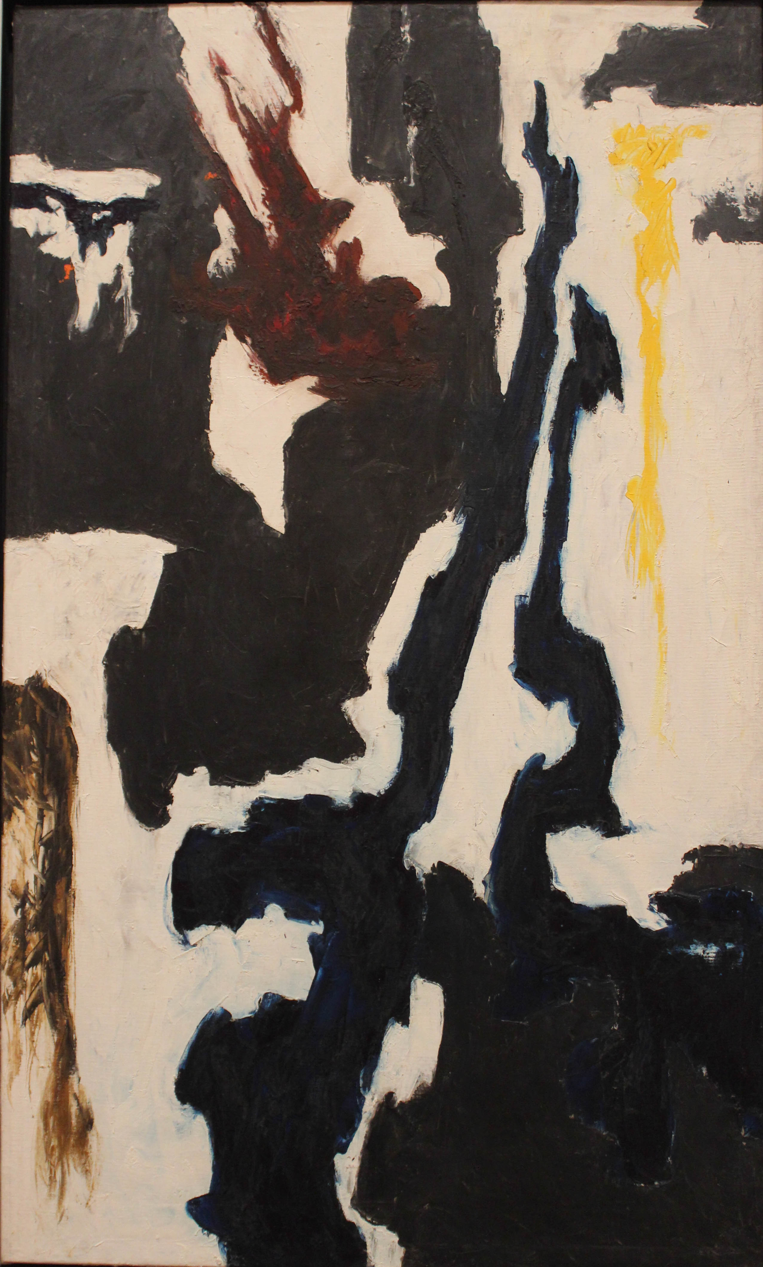 Clyfford Still: Untitled, 1946-47, on view at the Metropolitan Museum, NY.