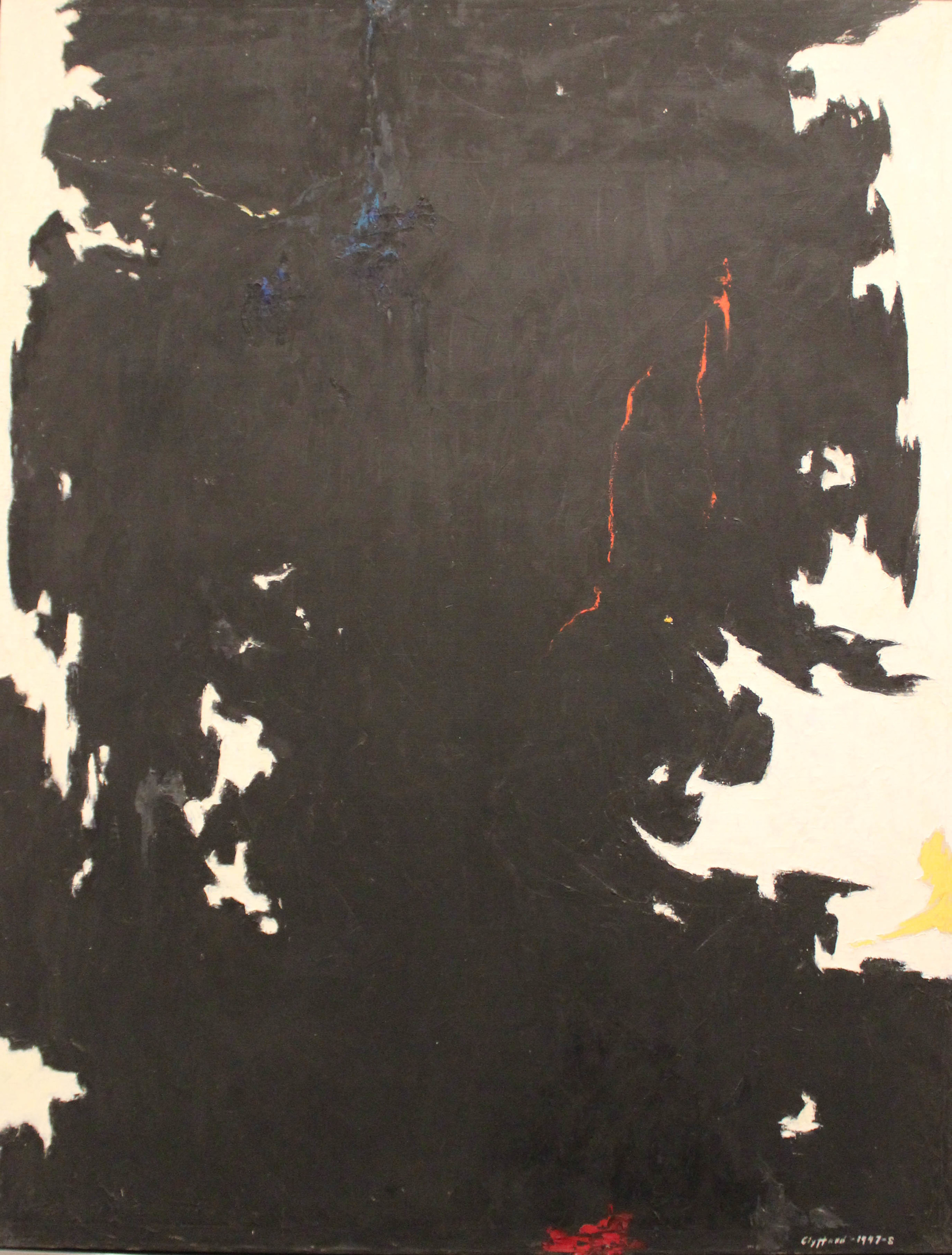 Clyfford Still: 1947-48-W No. 1, 1947-48, on view at the Metropolitan Museum, NY.