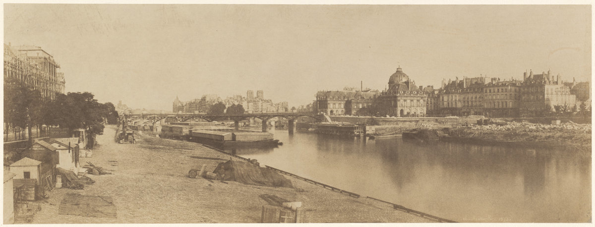 Charles Marville, The Seine from the Pont du Carrousel Looking towards Notre Dame,  1853