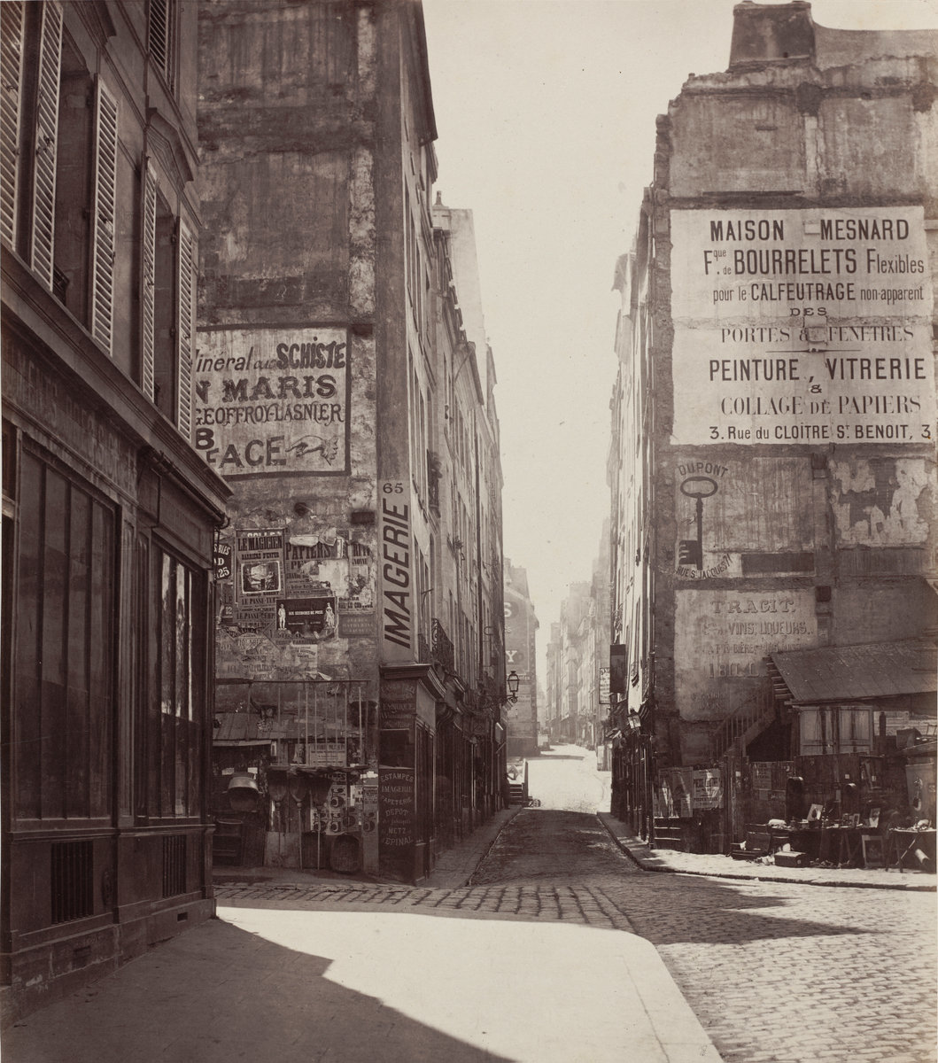 Charles Marville, Rue Saint-Jacques,  1864-before February 1867