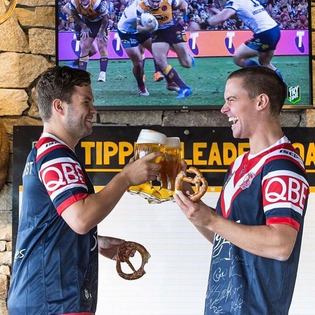 2 massive games tonight! 🏉 Roosters vs. Broncos and Bledisloe Cup Game #2 - LIVE & LOUD at The Bav! . . #germanfood #oktoberfest #oktoberfest2018 #pork #porkknuckle #sausages #beer #bier #bavaria #thebavarian #bavarian #munich #dirndl #lederhosen #oktoberfestinthegardens #pretzel #germanpretzel #munichlager #lowenbrau #spaten #germany #franziskaner #schnitzel #porkbelly #octoberwest #munichbrauhaus #southwharf #southbank