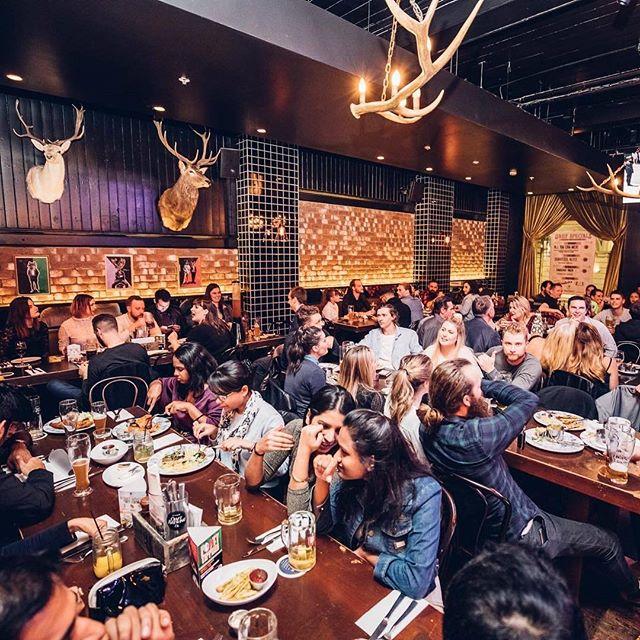 Another packed Saturday night at The Beerhaus, Sydney CBD! Our Sydney CBD Bavarian is a little bit different to our other Bavs! Every Saturday night, The Bavarian BEERHAUS transports our customers to 1920s Old World Berlin with burlesque, cabaret, comedy and drinking games! It's perfect for birthday, bridal and bucks parties! Book now! Call (02) 9259 5600 - 24 York St, Sydney CBD (near Wynyard Station) . #germanfood #oktoberfest #oktoberfest2018 #pork #porkknuckle #sausages #beer #bier #bavaria #thebavarian #bavarian #munich #dirndl #lederhosen #oktoberfestinthegardens #pretzel #germanpretzel #munichlager #lowenbrau #spaten #germany #franziskaner #schnitzel #porkbelly #octoberwest #munichbrauhaus