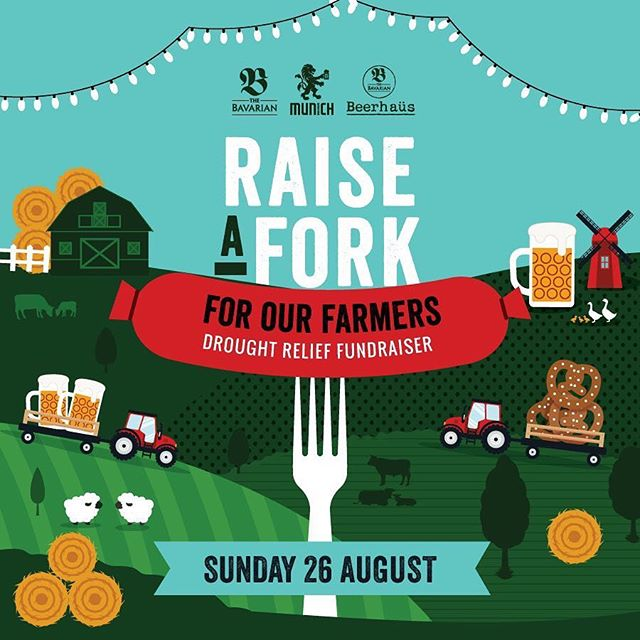 All profit made today will be donated to drought-stricken farmers ❤️ Their produce goes from paddock-to-plate, so let's use our plates to give back to their paddocks. Call our National Reservations Team on (02) 9259 5600 to book a table, and let's see how much we can raise today! . #germanfood #drought #fundraiser #charity #australiandrought #droughtrelief #aussiehelpers #oktoberfest #oktoberfest2018 #pork #porkknuckle #sausages #beer #bier #bavaria #thebavarian #bavarian #munich #dirndl #lederhosen #oktoberfestinthegardens #pretzel #germanpretzel #germany