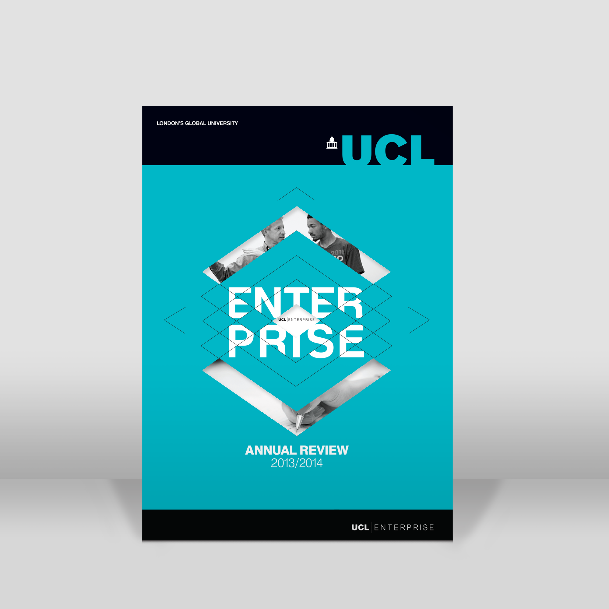 University college London annual report design front cover.png