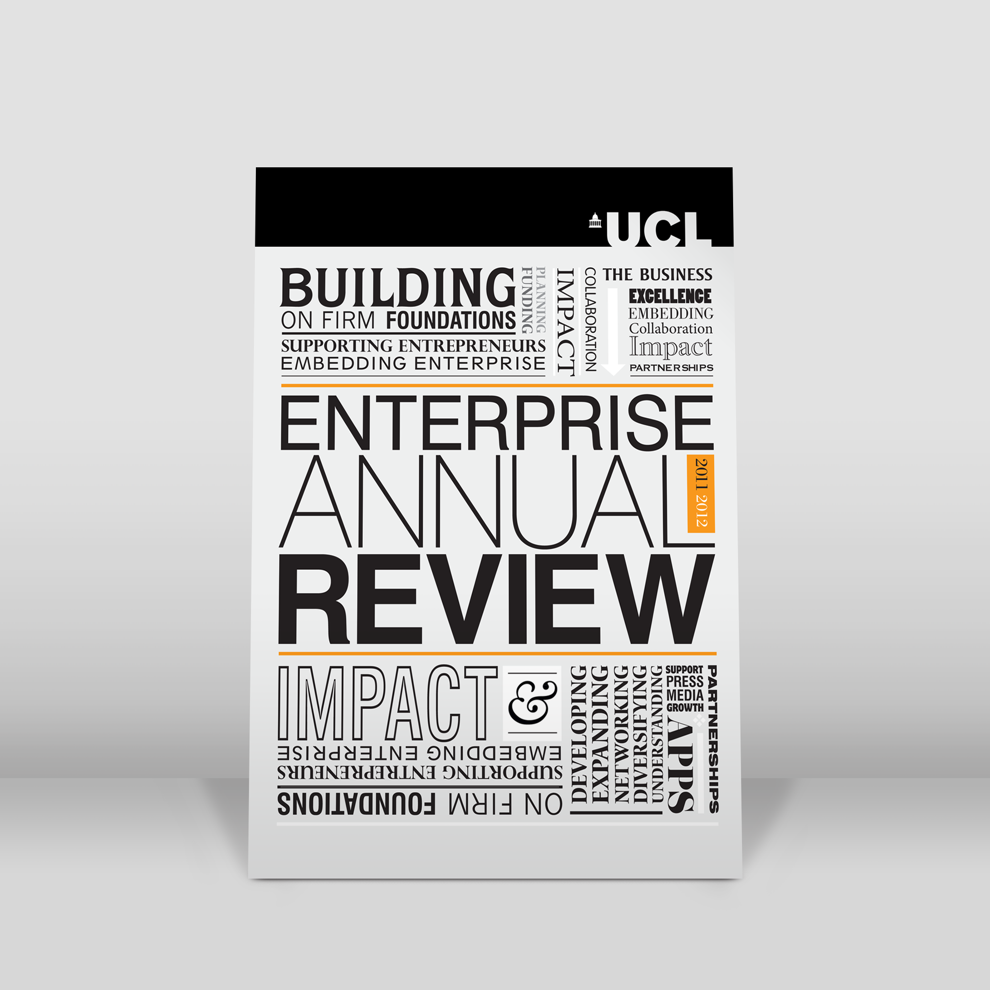 University college London annual report design cover.png