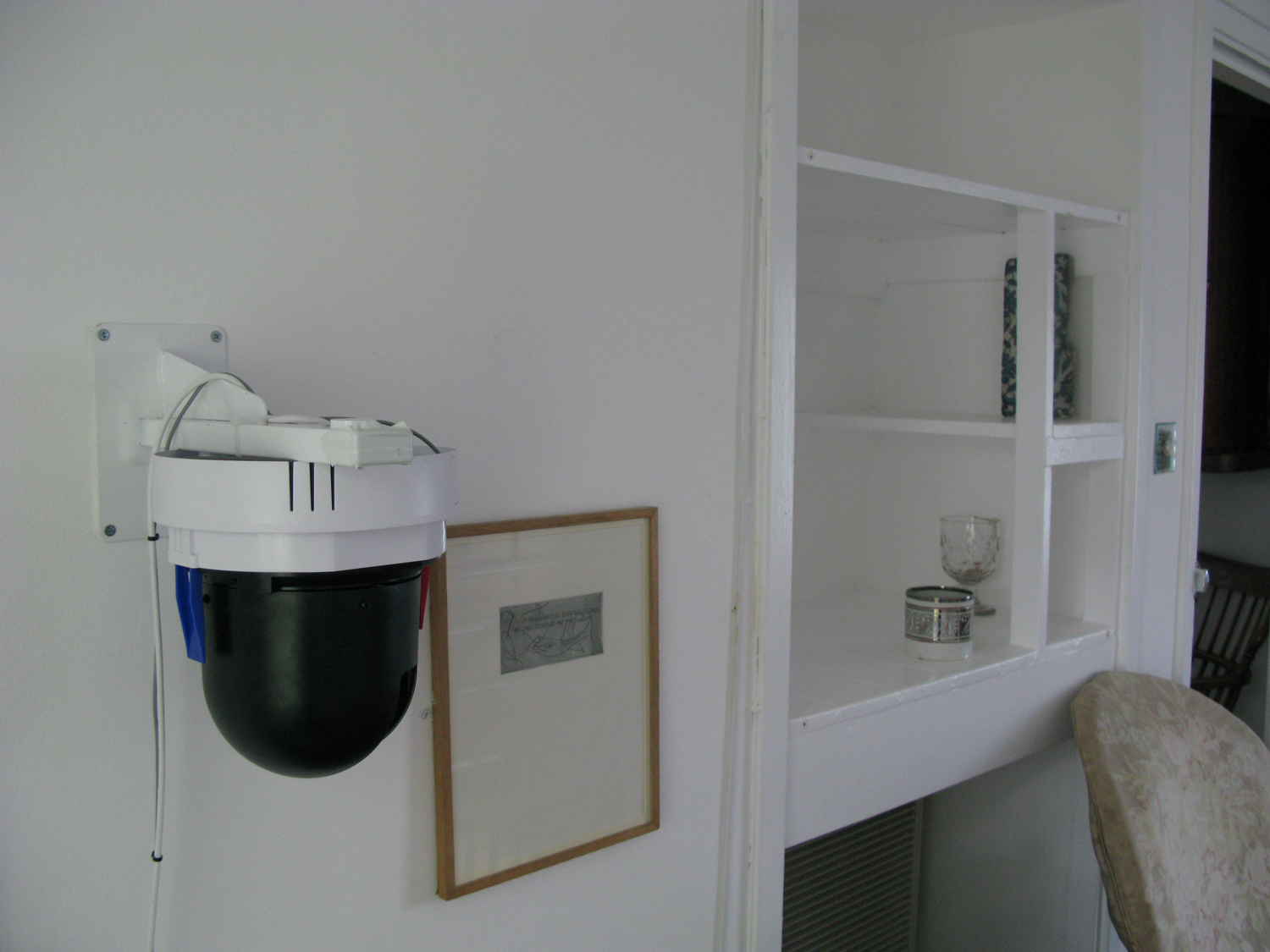 Helen's Room - Kettles yard, 2009, live online 24/7 - surveillance camera in situ,not visible to viewer