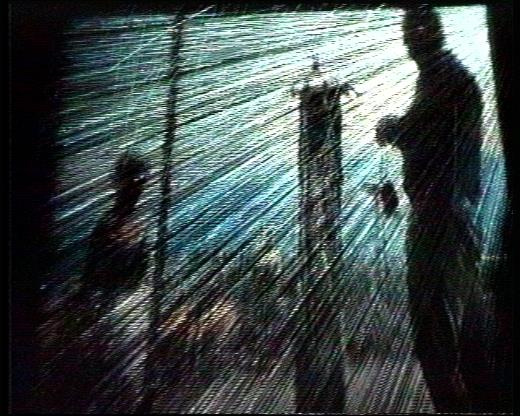 Mirador, 2004, installation, water screen, video projection