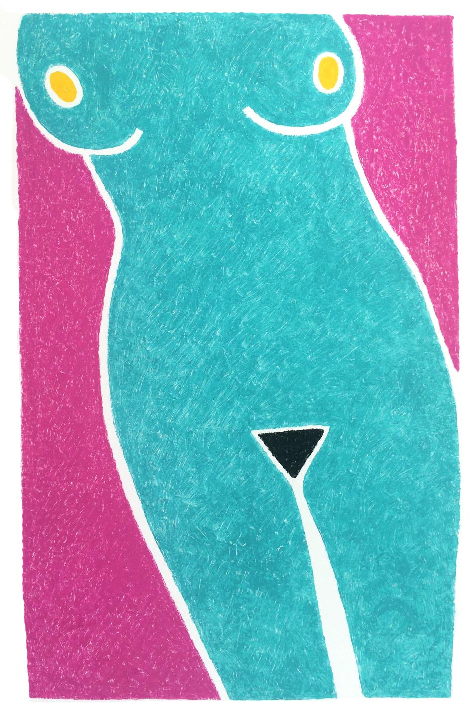 Bermuda Triangle  Monotype * SOLD